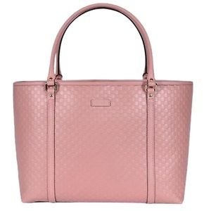 Gucci Microguccissima Pink Leather GG Tote